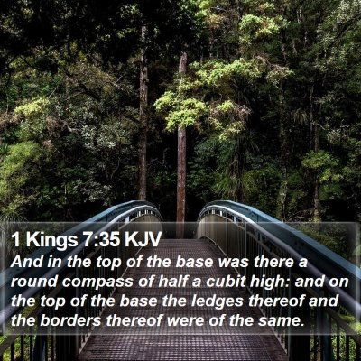 1 Kings 7:35 KJV Bible Verse Image