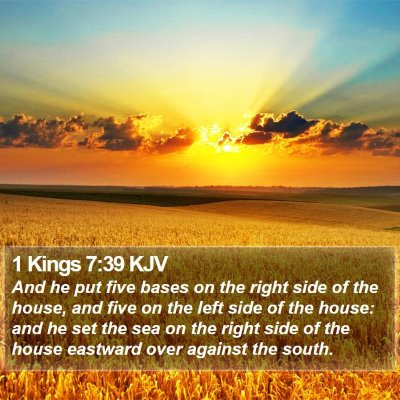 1 Kings 7:39 KJV Bible Verse Image