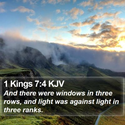 1 Kings 7:4 KJV Bible Verse Image