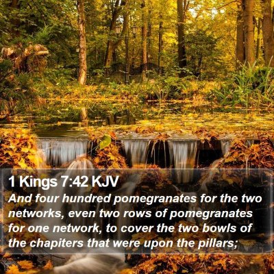 1 Kings 7:42 KJV Bible Verse Image
