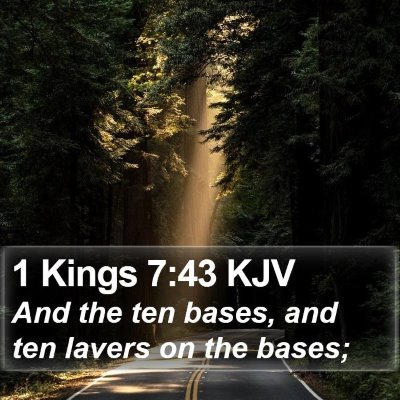 1 Kings 7:43 KJV Bible Verse Image