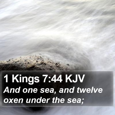 1 Kings 7:44 KJV Bible Verse Image