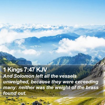 1 Kings 7:47 KJV Bible Verse Image