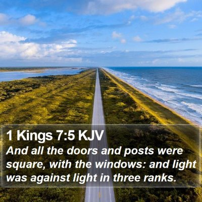 1 Kings 7:5 KJV Bible Verse Image