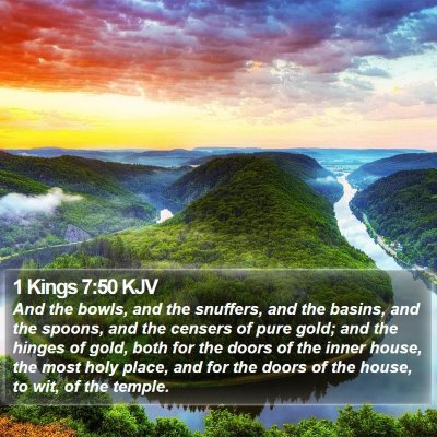 1 Kings 7:50 KJV Bible Verse Image