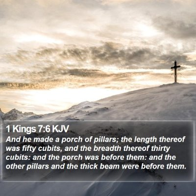 1 Kings 7:6 KJV Bible Verse Image