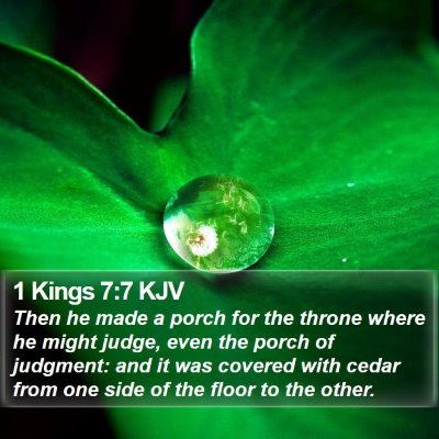 1 Kings 7:7 KJV Bible Verse Image
