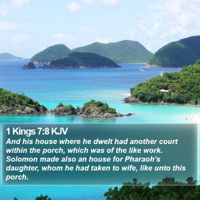1 Kings 7:8 KJV Bible Verse Image