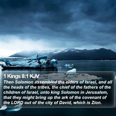 1 Kings 8:1 KJV Bible Verse Image