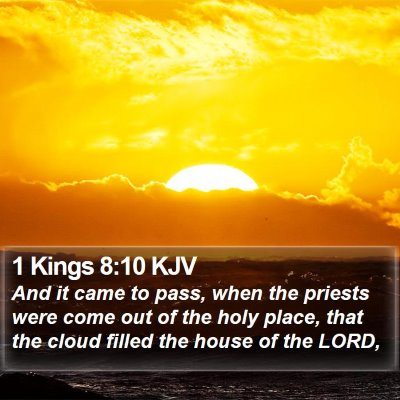 1 Kings 8:10 KJV Bible Verse Image