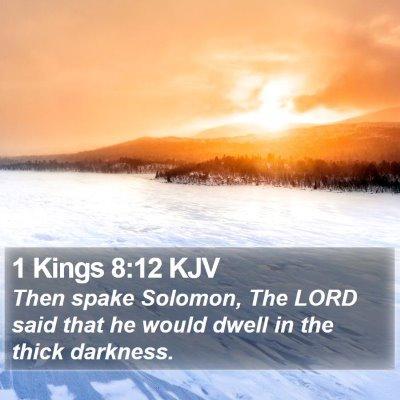 1 Kings 8:12 KJV Bible Verse Image