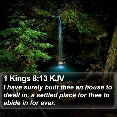 1 Kings 8:13 KJV Bible Verse Image