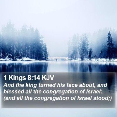 1 Kings 8:14 KJV Bible Verse Image