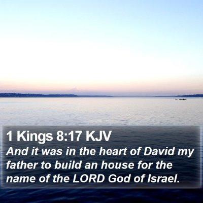 1 Kings 8:17 KJV Bible Verse Image
