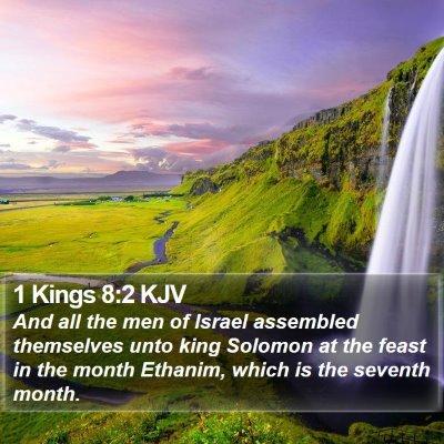 1 Kings 8:2 KJV Bible Verse Image