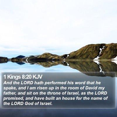 1 Kings 8:20 KJV Bible Verse Image