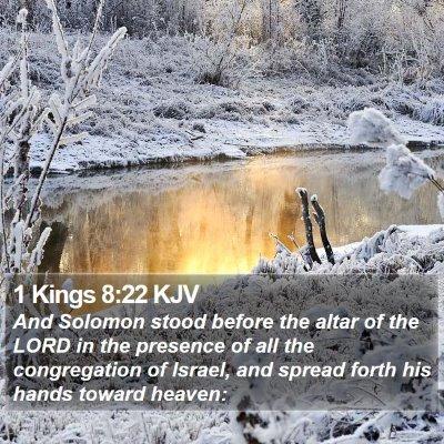 1 Kings 8:22 KJV Bible Verse Image