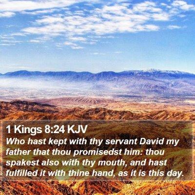 1 Kings 8:24 KJV Bible Verse Image