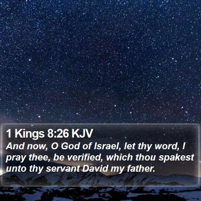 1 Kings 8:26 KJV Bible Verse Image