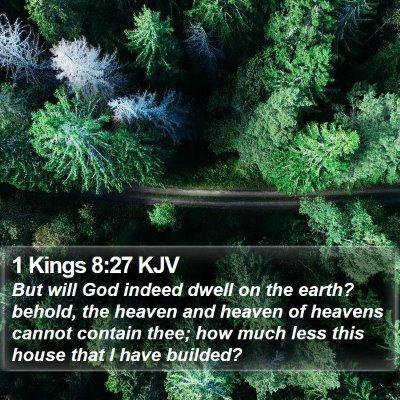1 Kings 8:27 KJV Bible Verse Image