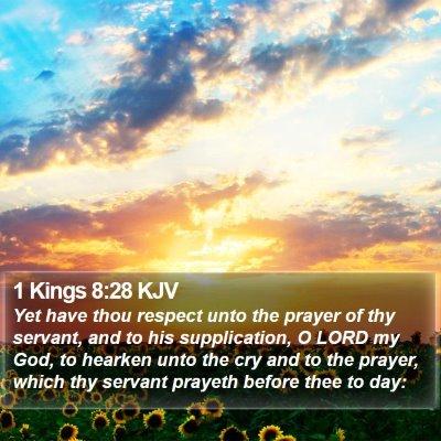 1 Kings 8:28 KJV Bible Verse Image