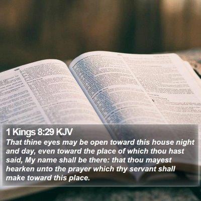 1 Kings 8:29 KJV Bible Verse Image