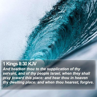 1 Kings 8:30 KJV Bible Verse Image