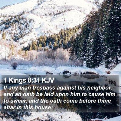 1 Kings 8:31 KJV Bible Verse Image