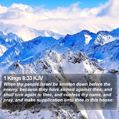 1 Kings 8:33 KJV Bible Verse Image