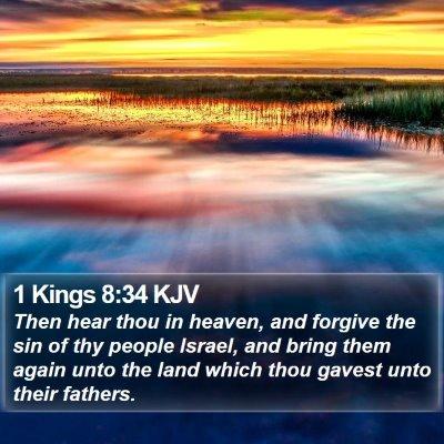 1 Kings 8:34 KJV Bible Verse Image