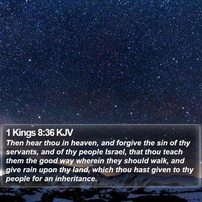 1 Kings 8:36 KJV Bible Verse Image