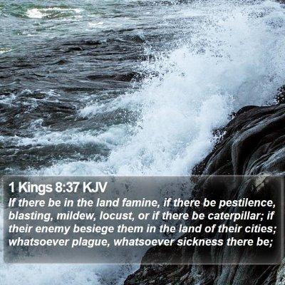 1 Kings 8:37 KJV Bible Verse Image