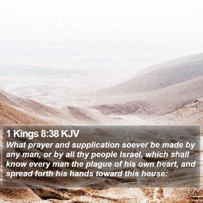 1 Kings 8:38 KJV Bible Verse Image