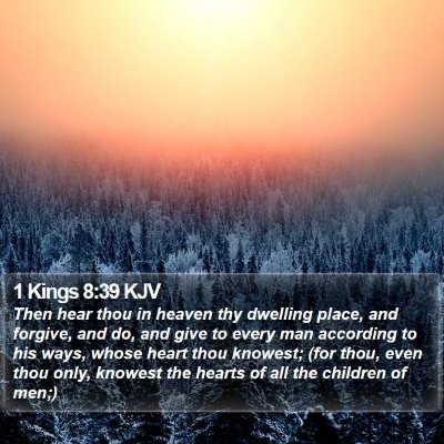 1 Kings 8:39 KJV Bible Verse Image