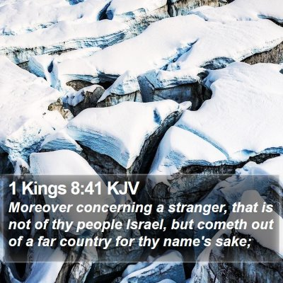 1 Kings 8:41 KJV Bible Verse Image