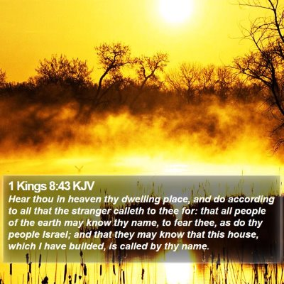 1 Kings 8:43 KJV Bible Verse Image