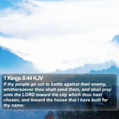 1 Kings 8:44 KJV Bible Verse Image