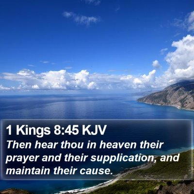 1 Kings 8:45 KJV Bible Verse Image