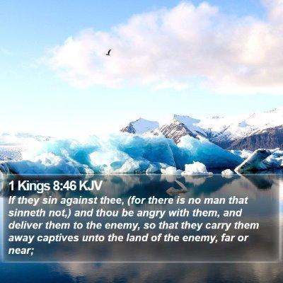 1 Kings 8:46 KJV Bible Verse Image