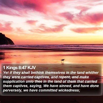 1 Kings 8:47 KJV Bible Verse Image