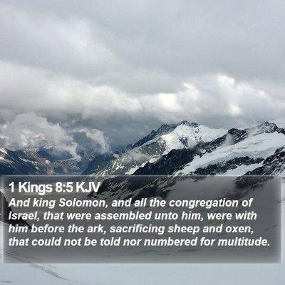1 Kings 8:5 KJV Bible Verse Image