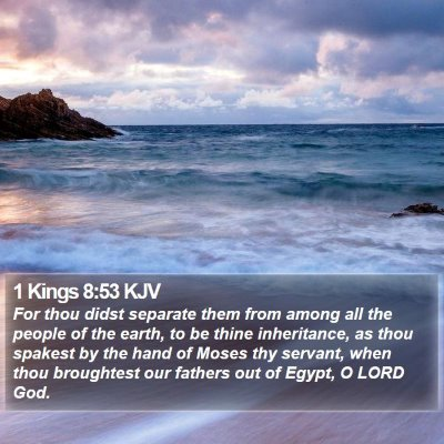1 Kings 8:53 KJV Bible Verse Image