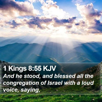 1 Kings 8:55 KJV Bible Verse Image
