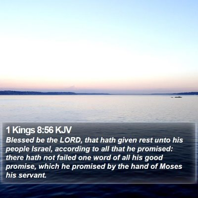 1 Kings 8:56 KJV Bible Verse Image