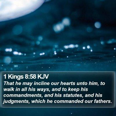 1 Kings 8:58 KJV Bible Verse Image