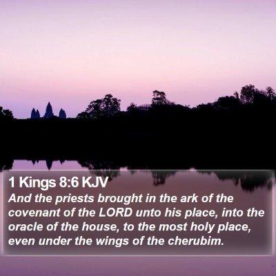1 Kings 8:6 KJV Bible Verse Image