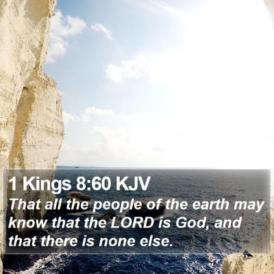 1 Kings 8:60 KJV Bible Verse Image