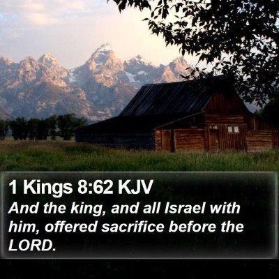 1 Kings 8:62 KJV Bible Verse Image