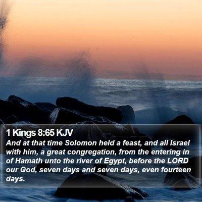 1 Kings 8:65 KJV Bible Verse Image