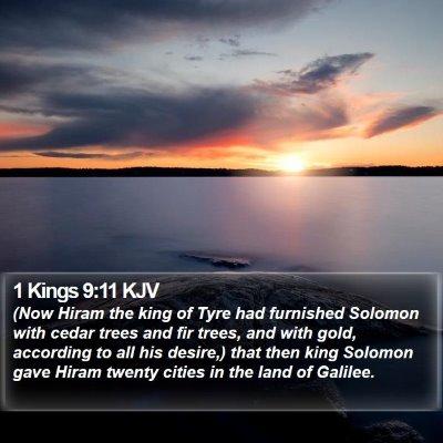 1 Kings 9:11 KJV Bible Verse Image